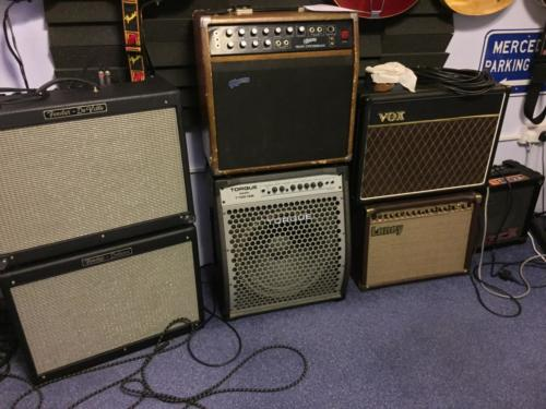 Guitar amps and speakers